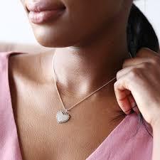 sterling vintage style heart pendant