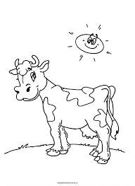 Kleurplaat Koe In De Weide Dieren