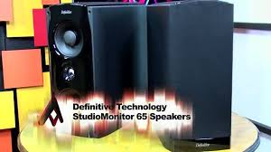 definitive technology studiomonitor 65. definitive technology studiomonitor 65 speakers video review - dailymotion studiomonitor g