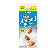 blue diamond almond breeze reduced sugar original almondmilk