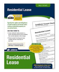 Amazon.com : Adams Residential Lease, Forms And Instructions (Lf310 ...