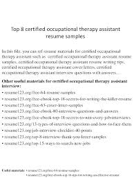 Sample Resume For Occupational Therapist Best Of Speech Therapist Cover Letter Speech Therapist Cover Letter Speech