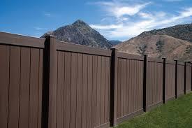 Vinyl privacy fence Wood Grain Homestead Vinyl Fence 6 Tall Dark Walnut Vinyl Privacy Fence