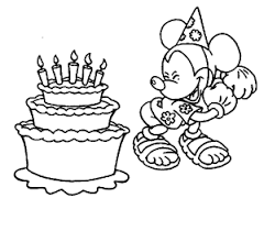 Minnie mouse happy birthday coloring page. Happy Birthday Coloring Pages Free Printable Download For Kids Animals Balloon Cake Bird Elmo Disney Activity Sheets Boy Girl Crafts 8 Coloring Pages For Kids