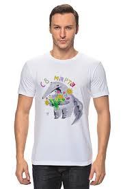 Футболка классическая <b>Муравьед</b> с цветами #712987 от ...