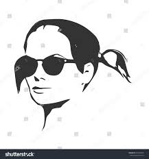 Pigtails Hair Style portrait beautiful woman black sunglasses pigtails stock vector 7070 by stevesalt.us