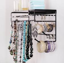 Hanging Necklace Organizer Chic Wall Mount Jewelry Organizer 2 Wall Mounted Jewelry Organizer