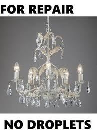 for repair not working no droplets john lewis annabella chandelier 5 rrp 130
