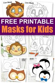 These are black and white versions for the kids to colour in. Printable Animal Masks For Kids Simple Mom Project