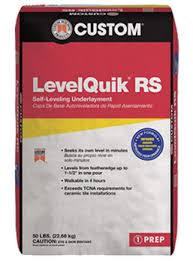 Self Leveling Coverage Chart Levelquik Rs Underlayment Custom Building Products
