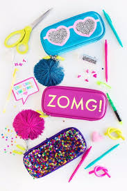 best diy ideas for teens to make this summer diy glittery graphic pencil cases