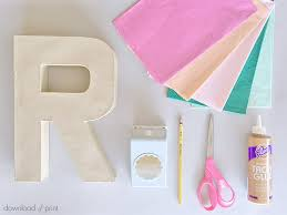 and print tissue paper flower letters supplies