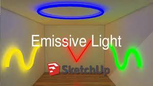 Vray Neon Light Tutorial Sketchup Emissive Light Neon Light Tutorial