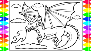 Whether you are young or not so young, you will enjoy filling in the shapes of these amazing coloring sheets! How To Draw A Dragon For Kids Dragon Coloring Pages For Kids Youtube