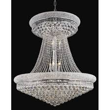 primo chrome twenty eight light chandelier with royal cut clear crystal