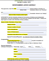 Using an agreement template is an efficient way to streamline the contract management and signing process, especially when you need to repeatedly use the same or. Contract Artist Contract Template Contract Rental Agreement Templates