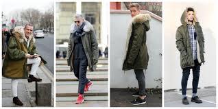 men fashion parkas