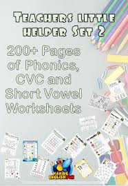 Here, you will find free phonics worksheets to assist in learning phonics rules for reading. Teachers Little Helper Set 2 200 Cvc Phonics And Short Vowel Activities And Worksheets Making English Fun