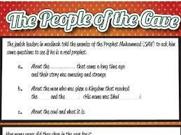 The People Of The Cave As Haab Al Kahf Worksheet By Gftq