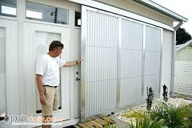 hurricane shutters for sliding glass doors fort sliding