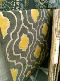 yellow and gray runner rug