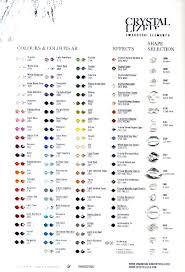 Swarovski Chart Colours And Shapes Swarochart 60 00