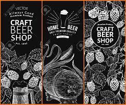 Hop Design Shop Beer Hop Design Templates Retro Beer Background Vector Hand