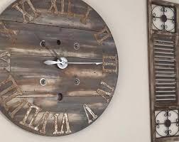 large rustic spool wall clock w custom