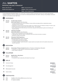 023 Resume Templates For Teachers Template Ideas Teacher