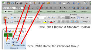 How To Ribbon Home Tab Comparison Excel 2010 Windows And