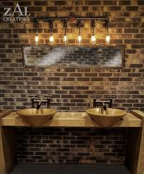 Set Of  Vanity Lamp Beer Bottles Plumbing Pipe  Fittings - Bathroom lighting pinterest