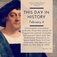 「1493 – Christopher Columbus returns to Spain after his first trip to the Americas.」の画像検索結果