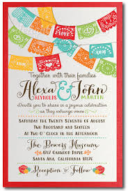 mexican wedding invitations. mexican fiesta paper flags wedding invitations m