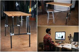standing desk plans.  Desk Home Standing Desk Simple Adjustable Trend Throughout  Height Plans Homemade Conversion With N
