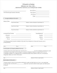 Emergency Medical Information Form Template Employee Emergency