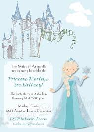 elsa birthday invitations frozen birthday invitations fresh norwegian princess and castle