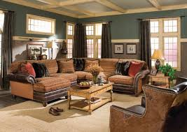 western living room furniture decorating. Living Room Dark Walnut Square Coffee Table Included A Pair Brown Leather Comfy Sofa Wood Varnished Western Furniture Decorating R