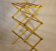 ... Rack, Large Wooden Clothes Drying Rack By Benson Wood Ideas:  Mesmerizing Wooden Clothes Drying ...