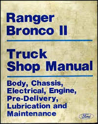 ford bronco ii service manuals shop owner maintenance and 1986 ford ranger bronco ii repair manual original