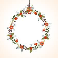 Blank Christmas Background Beautiful Flowers Decorated Blank Frame On Shiny Background For