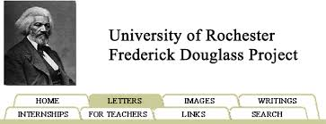 frederick douglass project rebecca caesar s douglass  frederick douglass project site menu