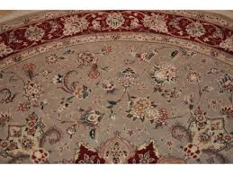 7 ft round persian rug handmade hand knotted wool