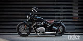 2017 triumph bonneville bobber first ride review rider magazine