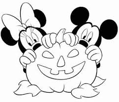 Small Picture My Family Fun Halloween Minnie and Mickey coloring page Print