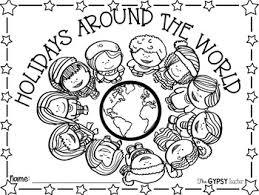 Christmas around the world | www.livinglifeintentionally.blogspot.com. Christmas Around The World Coloring Page By Allie Elliott The Gypsy Teacher