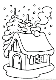 Winter Color Page Winter Coloring Pages Printable Coloring Page