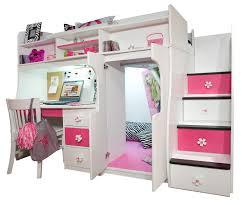 Loft Bedroom Furniture Twin Loft With Central Play Area And Desk Bedroom Furniture