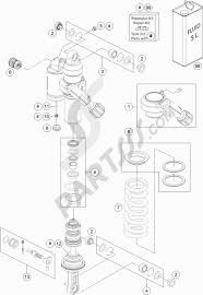 Shock absorber disassembled ktm 1190 adventure r abs 2016 eu