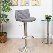 adjustable height swivel bar stool. MIX Diamond-patterned Leatherette/Brushed Stainless Steel Adjustable-height Swivel Bar Stool With Round Base - Free Shipping Today Overstock 16384715 Adjustable Height E