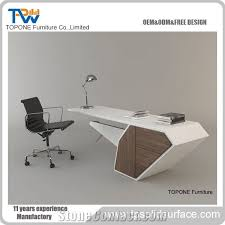 office table design. 2017 New Design Corian Solid Surface Interior Stone And Wooden Office Table With White Artificial Marble Desk Tops, Modern